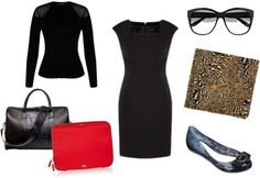 How to style a little black dress for work