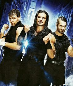 Dean Ambrose Roman Reigns & Seth Rollins