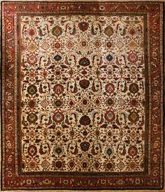 Mahal     Size:12' x 15'   Region: Arak    Made: circa 1890