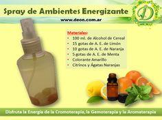 Como realizar un Spray de Ambientes energizante con Aromaterapia.