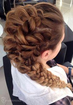 5 Pretty Braided Hairstyles for Prom: Dutch Braided Ponytail  #braids #braidedhairstyle #hair