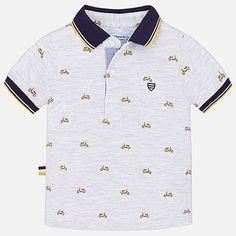 Baby Boy Printed Scooter Polo in Grey Boys T Shirts, Polo Shirts, Beloved Shirts, Anchor Shirts, Baby Boy, Kids Z, Camisa Polo, Summer Boy, Kids Fashion Boy