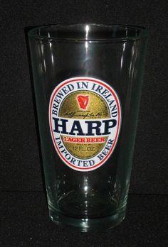 "Harp Lager Beer Glass Cup Irish Pub 5.5"" Luminarc 16 Oz FREE US Shipping #Luminarc"