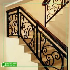 Modern Stair Railing, Wrought Iron Stair Railing, Stair Railing Design, Staircase Railings, Modern Stairs, House Roof Design, Home Building Design, Balustrades, Parks