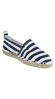 Malia Espadrille - Navy Strip made by MIA Shoes. i love these. I have canvas ones from Fossil but they feel to small and i never send things back. These are great