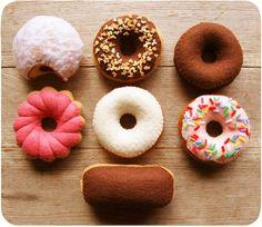 Felt Sunday Breakfast Donuts by milkfly on Etsy