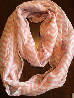 Pink Chevron Infinity Scarf Free Shipping on Etsy, $10.00