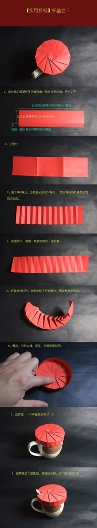 Origami Cup Lid