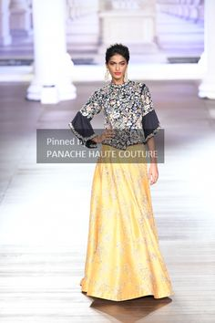 Yellow and blue designer lehenga. Contact us through WhatsApp for price details and customizations. Ethenic Wear, Lehenga Collection, Couture Week, Wedding Designs, Yellow, Blue, Lace Skirt, Ball Gowns, Indian