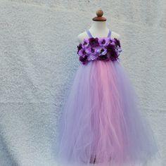 Lavender purple flower girl dress by BloomsNBugs on Etsy, $70.00