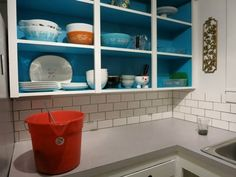 Before & After: Nicole's Painted Cabinet Interiors