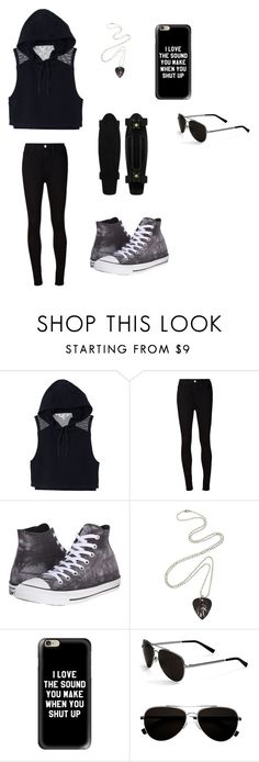 """""""Untitled #51"""" by darksoul7 on Polyvore featuring Victoria's Secret, AG Adriano Goldschmied, Converse, Casetify and Calvin Klein"""