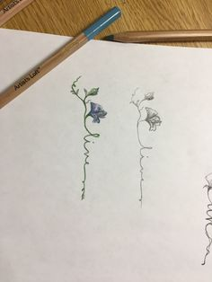 """Watercolor for the flower, make the green smaller leaf into a small flower bud, wording for """"live"""" in black that fades into the green watercolor stems."""