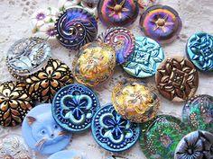 Czech Glass Buttons.