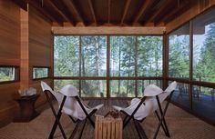 salon - Cabin-Flathead-Lake par Anderson Wise Architects - Montana, USA