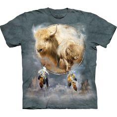 White Buffalo in Dream Catcher T-Shirt