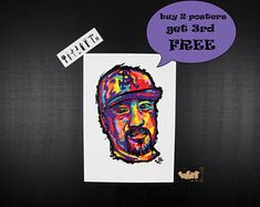 B REAL by Cypress Hill Rap posters. Perfect gift for hip hop lovers. Hip hop art, Rap Art, Unique gift. Music art, Hip hop posters, wall art