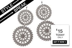 STYLE BREAK! Get the Nia Earrings for $15. Today only!