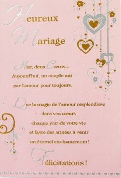 1000 f licitations mariage sur pinterest carte felicitation carte de f licitation mariage et. Black Bedroom Furniture Sets. Home Design Ideas