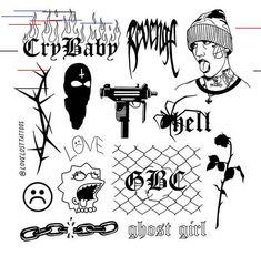 Pin by 🍁Stella🐉 on Face tattoos Kritzelei Tattoo, Doodle Tattoo, Poke Tattoo, Ghost Tattoo, Samoan Tattoo, Polynesian Tattoos, Grey Tattoo, Lil Peep Tattoos, Mini Tattoos