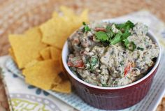 Black Bean Guacamole Makes:  2 1/4 cups  |  Serving Size: 1/4 cup  Per serving: Calories: 123; Total Fat: 8g; Saturated Fat: 2g; Monounsaturated Fat: 5g; Cholesterol: 0mg; Sodium: 39mg; Carbohydrate: 11g; Dietary Fiber: 7g; Sugar: 2g; Protein: 5g
