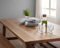 MÖCKELBY tafel | IKEA IKEAnl IKEAnederland designdroom inspiratie wooninspiratie interieur wooninterieur eetkamer eettafel tafelen bank bankje massief hout slijtvast natuurmateriaal eiken