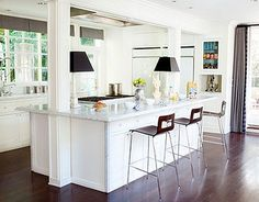 beach house kitchen by idesignstILes,