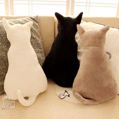 Cheap 2015 lindo del gato del gatito amortiguador trasero creativo silueta de peluche de juguete muñeca sombra de ojos de gato regalo de cumpleaños almohada, Compro Calidad   directamente de los surtidores de China:     Lindo gatito gato amortiguador trasero creativo silueta de juguete de felpa muñeca Sombra gato regalo de cumpl