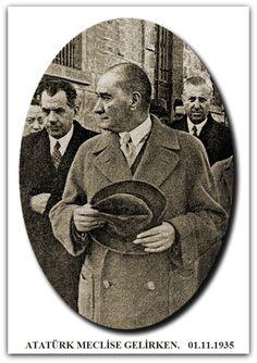 ATATÜRK MECLİSE GELİRKEN. 01.11.1935