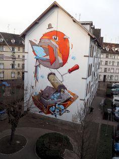 Murals Street Art, Street Art Graffiti, Graphic Design Illustration, Illustration Art, Installation Street Art, Graffiti Tagging, People Art, Public Art, Urban Art
