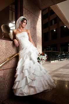 Bride in classic hall enviroment