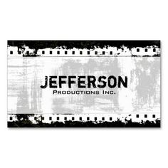 Wendalyn wwendalyn on pinterest film producer business cards film noir grunge style company business card colourmoves Image collections