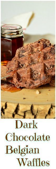 Belgian Dark Chocolate Waffles are perfect for those who love a little sweet for breakfast. We adore these delicious waffles that are so easy to make! #waffles #breakfast #brunch See more at This is How I Cook.com