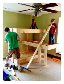 Triple bunk beds #diy #plans