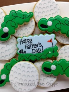 Decorated Golf Ball Cookies - a tutorial