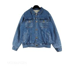Jacket - Denim classic ($150) ❤ liked on Polyvore featuring outerwear, jackets, tops, coats, women, blue denim jacket, blue jackets, denim jacket and faux-leather jacket