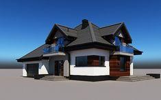 projekt Alicja N 2G+ Home Fashion, Mansions, House Styles, Home Decor, Luxury Houses, Interior Design, Home Interior Design, Palaces, Mansion