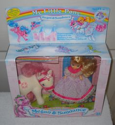 #8880 Ultra Rare Vintage Hasbro My Little Pony Megan & Sundance Set #DollswithClothingAccessories