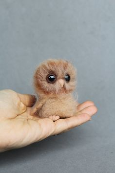 Ready to ship-Needle felted, ooak toy- Owl-miniature, owl. Holiday gift.