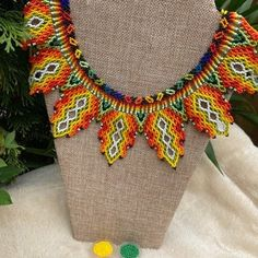 Handmade Bracelets, Handmade Jewelry, Handmade Items, Boho Necklace, Boho Earrings, Fringe Crossbody Bag, Beaded Cuff Bracelet, Flower Designs, Beautiful Necklaces