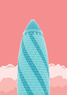 "Based in London, graphic designer Joshua Clarke has created a collection of pastel-hued posters that features several of the British capital's more visually striking skyscrapers. Depicting the ""new London skyline"", these illustrations are rendered in a minimalist style that juxtaposes the clean lines of the architecture against ombre clouds. Scroll down to view the rest of the posters from the series—you can purchase prints of them here. [via Kholl] Read more"