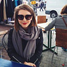 Essie Button | Cute Glasses & Scarf