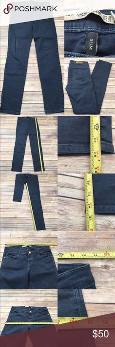 💟Size 4 Zara Core Denim Blue Slim Skinny Jeans Measurements are in photos. Normal wash wear, no flaws. F1/28  I do not comment to my buyers after purchases, due to their privacy. If you would like any reassurance after your purchase that I did receive your order, please feel free to comment on the listing and I will promptly respond.   I ship everyday and I always package safely. Thank you for shopping my closet! Zara Jeans Skinny