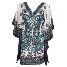 538c73583c6 Mogulinterior Boho Kaftan Dress Evening Wear Printed Short caftan Dress for  Womens Boho Shorts