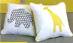 Free downloadable templates of the elephant and giraffe.