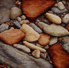 """Barbara Heller """"Stonewalls and Stones: Stones Weaving Art, Weaving Patterns, Loom Weaving, Hand Weaving, Contemporary Tapestries, Tapestry Loom, Landscape Art Quilts, Hand Hooked Rugs, Diy Art Projects"""
