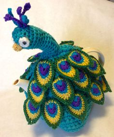 Proud Peacock Teapot Cozy  Bright by OCCASIONsonjabegonia on Etsy