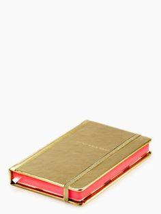 little gold book small notebook - kate spade new york