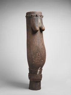 Drum  Date: early 20th century Geography: Democratic Republic of the Congo Culture: Luba Medium: Wood, hide, metal Dimensions: H. 103.7 x Diam. 31cm (40 13/16 x 12 3/16in.)
