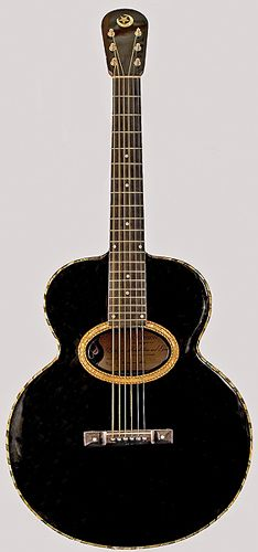 Orville Gibson made acoustic guitar signed and dated, May 17, 1902